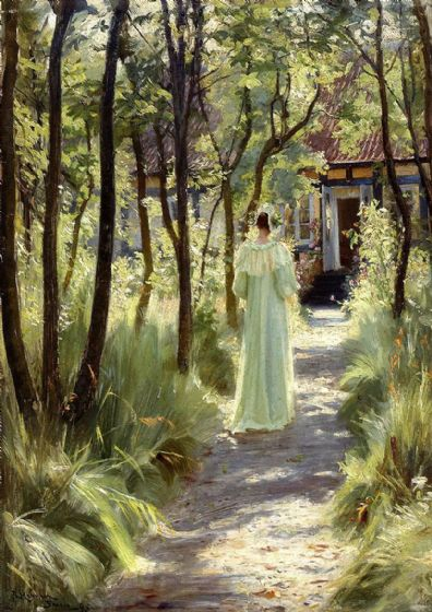 Kroyer, Peder Severin: Marie in the Garden. Fine Art Print/Poster (500)
